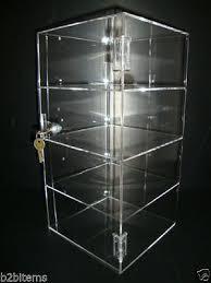acrylic countertop display case 8 x 8 x 16 locking security show case