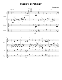 Download and print top quality happy birthday sheet music for cello or other instruments and piano. Happy Birthday Sheet Music For Piano Violin Flute Mixed Trio Musescore Com