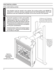 vent installation warning monessen hearth direct vent gas fireplace cdvr36 user manual page 14 52
