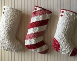 Christmas stockings - Etsy & Quilted Christmas Stocking, Choose One (1) Stocking, Red and White Candy  Cane Adamdwight.com