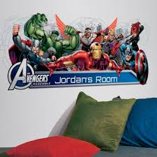 avengers assemble headboard pic on marvel wall decals