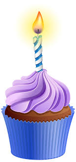 Cupcakes With Candles Clipart