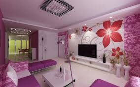 Purple Decorations For Living Room Chic And Fresh Violet House Interior To Decorate House Home