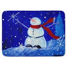 Holidays Snowman The Holiday Aisle Snowman Happy Holidays Memory Foam Bath Rug Wayfair