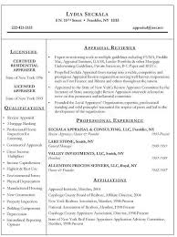Appraiser Sample Resumes Extraordinary Realtor Resume Examples Awesome Real Estate Appraiser Resume Example