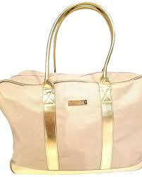 metallic canvas full zipper fully lined gold travel bag michael kors weekender leather cleaner