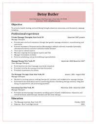choose 18 free massage therapist resume templates - Massage Therapist  Resume Samples