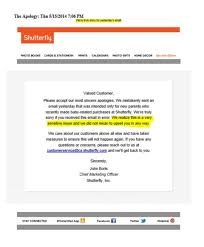 Shutterfly Customer Service Shutterflys Email Faux Pas When Marketing Automation Goes Wrong