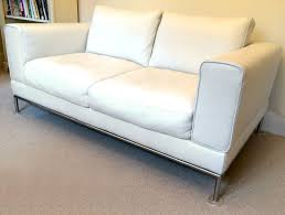 Small Picture White Leather sofa Ikea Arild 2 seater Immaculate in