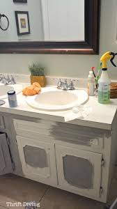 painting a bathroom vanity. How To Paint A Bathroom Vanity - Thrift Diving Blog6715 Painting 0