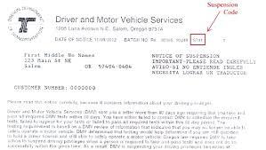 Sample Letter To Dmv Oregon Department Of Transportation Notice Information