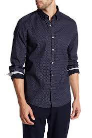 Patterned Button Up Shirts Interesting Kenneth Cole New York Long Sleeve Printed Button Up Shirt