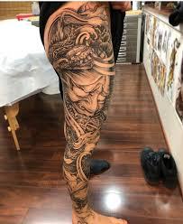 Snake Hannya Leg Sleeve By At Nhaomkaratattoo Tattooyu Tattoos