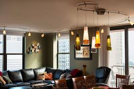 Dining Room Track Lighting A Monorail Lighting Guide Living Room Lighting Design