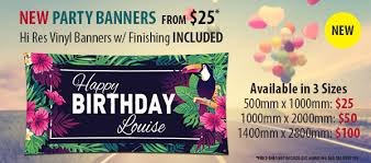 Happy Birthday Banners Personalized Custom Party Banner
