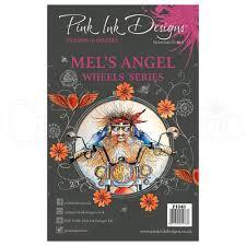 Pink Ink Designs Stencils Pink Ink Designs Clear Stamp Mels Angel Clear Stamps