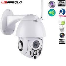 Usafeqlo 1080P PTZ Camera IP Ngoài Trời Tốc Độ Dome Wifi Camera An Ninh  Chảo Nghiêng Hồng Ngoại Mạng Camera Quan Sát Giám Sát 1080P|Camera giám sát