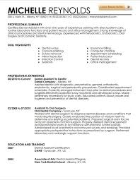 Dentist Resume Samples Dental Assistant Resume Samples Earpod Co