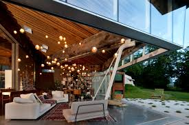 omer arbel office designrulz 6. House, Omer Arbel Office, White Rock, Canada, Interior View Of Private Residence At Dusk Office Designrulz 6 O