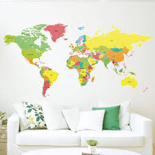 superb countries of the world map wall sticker by binary box with world map wall decal