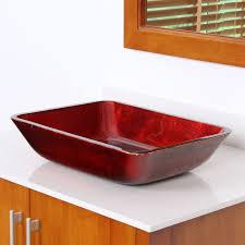 elite 1410 rectangle gany tempered glass bathroom vessel sink bathroom sinks stone sink kitchen