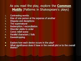 twelfth night by william shakespeare ppt as you the play explore the common motifs patterns in shakespeare s plays