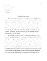 interpreter of maladies quotes steven iannacci professor bicks  interpreter of maladies · 6 pages comp essay 2