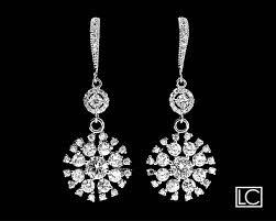 cubic zirconia bridal earrings crystal chandelier wedding earrings luxury cz wedding earrings clear cz dangle earring bridal crystal jewelry 36 90 usd