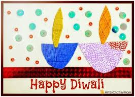Diwali Handmade Card For Kids To Make Diwali Cards Diwali