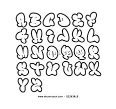 graffiti bubble letters