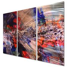metal wall art hanging set abstract contemporary modern decor chicago jazz 2 1 of 3only 3 available
