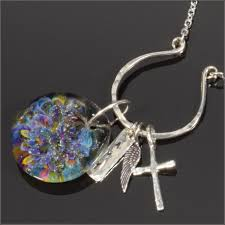 pet memorial cremation gl sterling rainbow bridge charm necklace