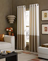 com curtainworks kendall color block grommet curtain panel 108 inch ivory home kitchen
