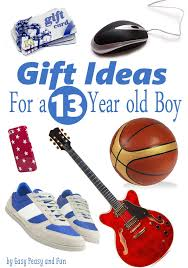 gifts for a 13 year old boy