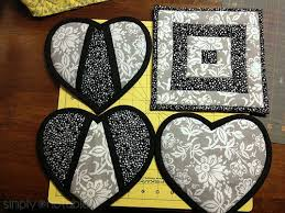 Modern Quilted Potholders - Simply Notable & Heart shapped potholders | SimplyNotable.com Adamdwight.com