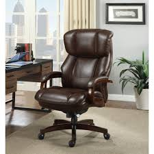 brown leather executive office chairs for 2018 la z boy fairmont biscuit brown bonded leather executive