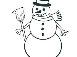 Snow Man Coloring Pages Snowman Color Page Snow Man Coloring Page
