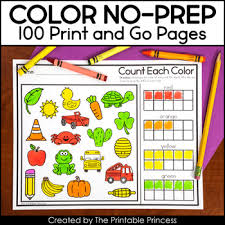 Start by scrolling to the bottom of the post, under the terms of use, and click on the text link that says >> download <<. Let S Learn Colors Color And Color Words No Prep Pages The Printable Princess