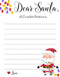 Free Download Letter Dear Santa Letter Free Printable Downloads