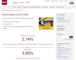 bb t home equity line of credit