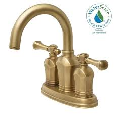 centerset 2 handle high arc bathroom faucet in antique brass hd67113w 8024h the home depot