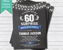 60 birthday invitations surprise 60th birthday invitation man surprise birthday party