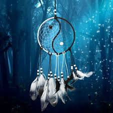 Dream Catchers For Your Car Handmade Tai Chi Yin Yang Dream Catcher Indian Black and White 92