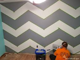 Small Picture Geometric Triangle Wall Paint Design Idea with Tape DIY for Life