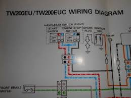 yamaha oem factory color wiring diagram schematic tw200eu tw200 eu euc image is loading yamaha oem factory color wiring diagram schematic tw200eu