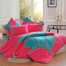 rose pink blue gilrs pastroal princess lace ruffle fl duvet cover bedding sets