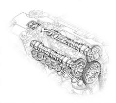 automotive illustration cutaway ghosted phantom view honda s2000 cutaway drawing of the camshafts