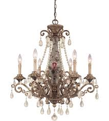 savoy house tracy porter sweet cecily 6 light chandelier in tuscan gold w hand painted column 1 1220 6 143