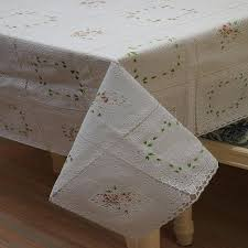 disposable plastic lace tablecloths friendly white thick