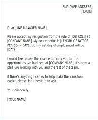 Management Resignation Letter Resignation Letter From Work Professional Resignation Letter